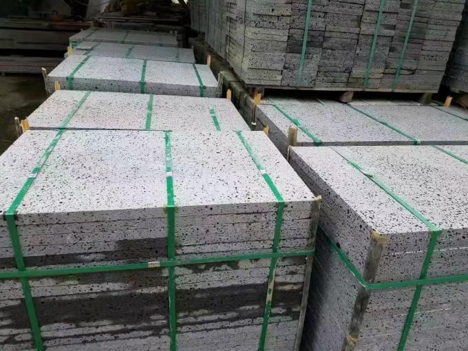 Exterior Wall Polished Granite Tiles High Gloss Grey Color Uniform Structure