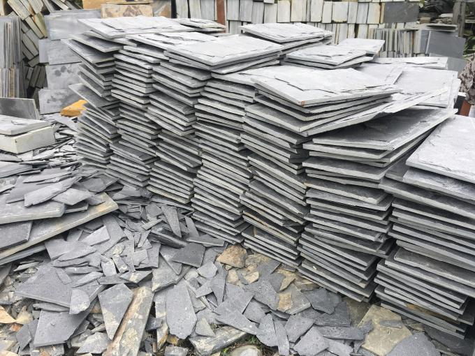 Natural slate culture stone sawn cut split China 30x30cm 40x25cm 60x25cm