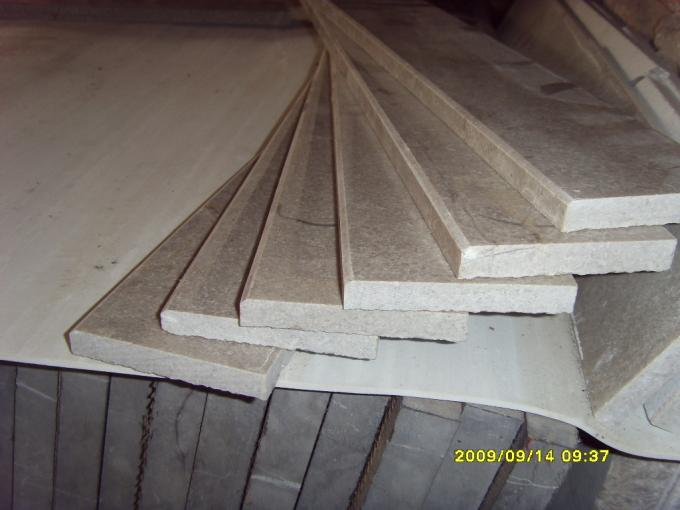 Public Buildings Marble Stair Treads , Grey Color Outdoor Stone Stair Treads