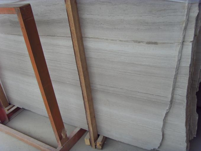 Wood Grain Marble Gloss Floor Tiles , Polished Marble Tiles For Stair Railings