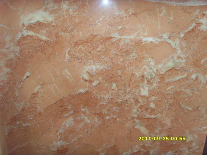 Big Slab Stone Gloss Marble Floor Tiles Polished Orange Peel Red Color