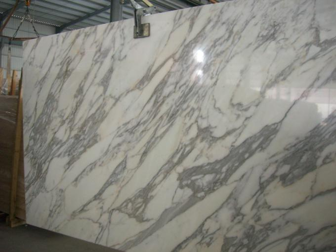 Pure Texture Marble Floor Tile , Wear Resistant Polished Marble Kitchen Worktops