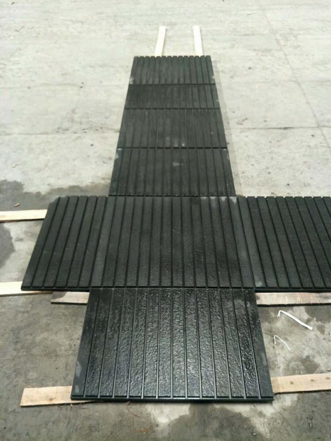 Nero Angola Black Polished Granite Tiles Sawn Flamed French Pattern Skirting