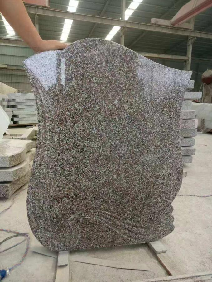 Grey / Brown Granite Memorial Headstones , Memorial Granite Stones Granite Grave Slabs