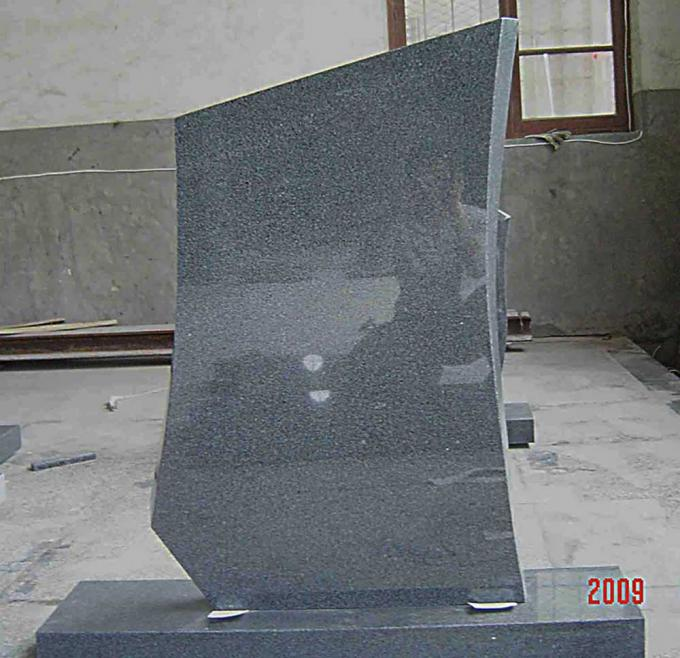 Olive Green Grey Granite Memorial Stones G654 American Style For Monument