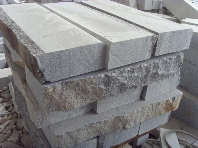 Granite stone block paving grey kerbs curbstone flamed sawn cut