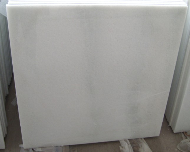 Crystal White Marble Bathroom Countertops , Marble Stone Flooring Environmentally Friendly