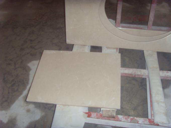 Custom Cream White Marble Countertops , Marble Vanity Tops For Interior Decoration