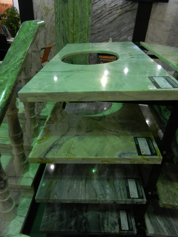 Multi Color Marble Stone Countertops , Marble Kitchen Worktops Polished / Honed Finishing
