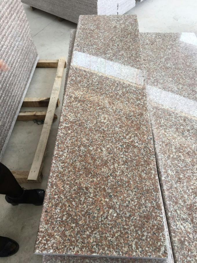 Red Color G363 Granite Stair Treads Stair Step Polished / Flamed High Performance