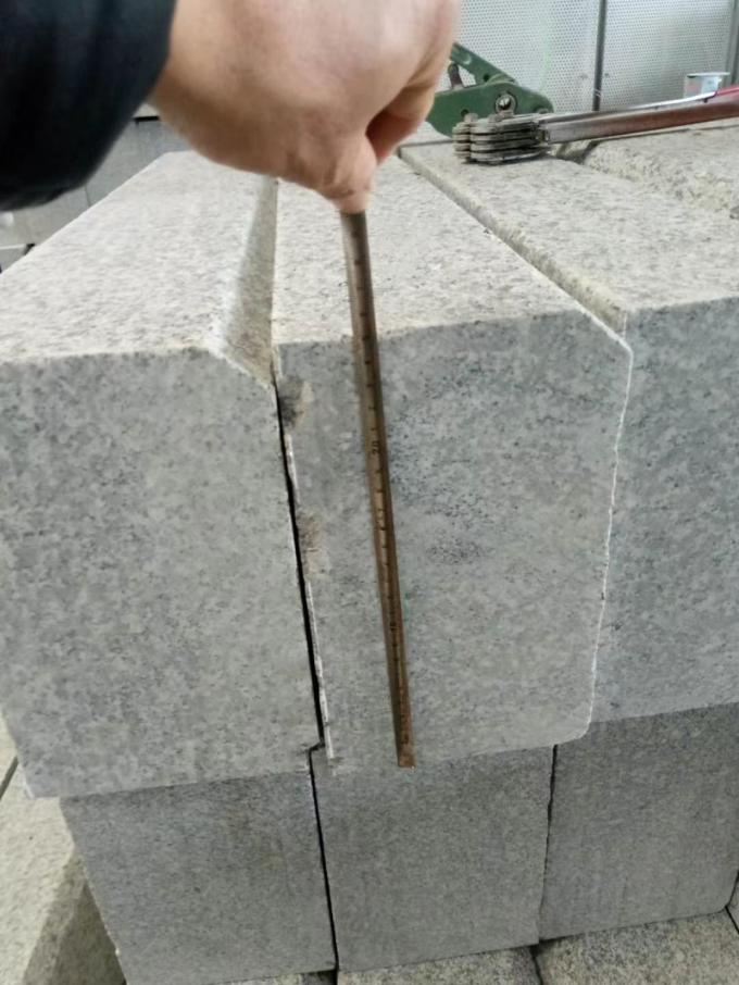 Granite Stone Block Paving Kerbs Grey Kerbstone Custom Size CE Certification