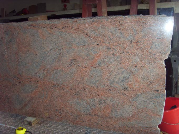 Indian Multicolor Red Granite Floor And Wall Tiles High Density CE Certification