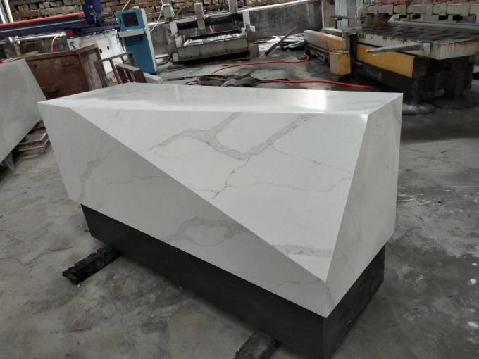 Quartz Stone Artifical Large Stone Slabs Countertop Vanity Snow White Color