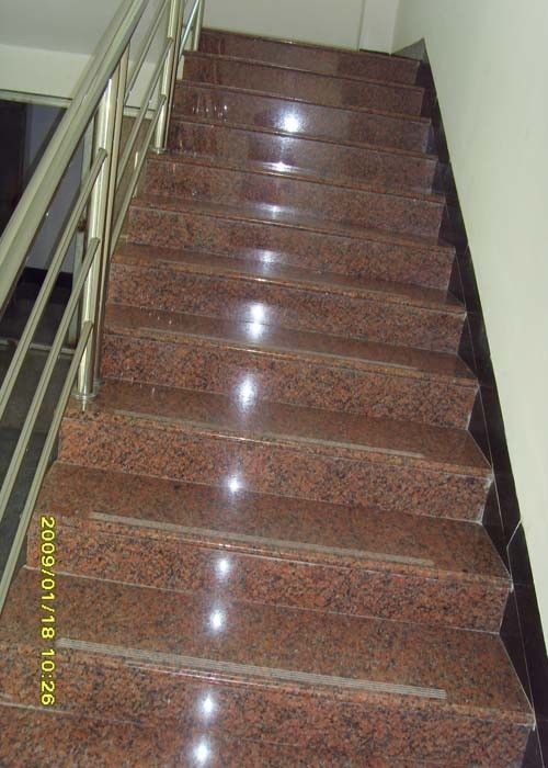 G562 Maple Red Granite Stair Treads slab tile cheap chinese stone Polished flamed