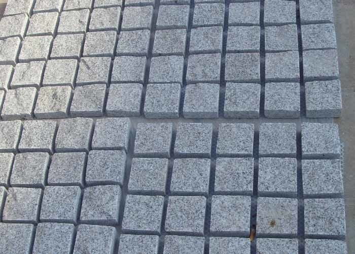 Durable Roads Granite Paving Slabs Stone Brick High Density 10 X 10 X 10cm
