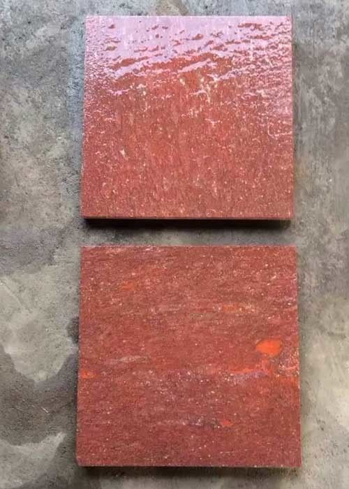 Red Porphyry Granite Basalt Paver Tiles , Basalt Paving Slabs Stones