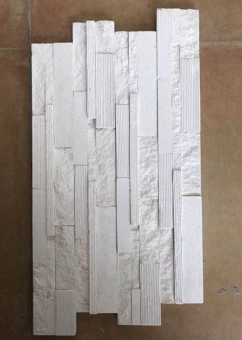 2.5 G / Cm³ Density Natural Slate Stone Marble Culture Stone Sawn Cut Split White Color
