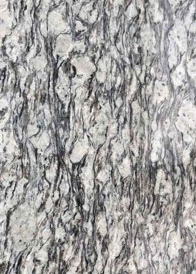 China Polished Flamed Granite Stone Slabs Spray White Seawave Flower G708 Countertop factory