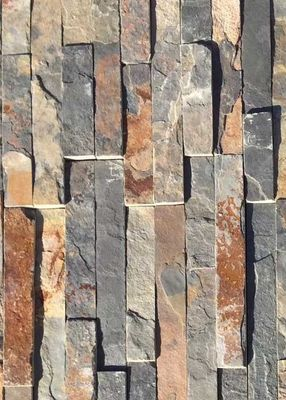 Anti Skid Natural Slate Stone , Small Slate Tiles High Performance