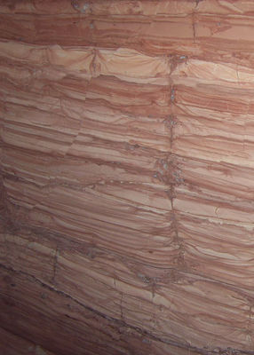 ​Red Wooden Vein Marble Gloss Marble Floor Tiles Flooring Big Slab 2.7g / Cm³ Density