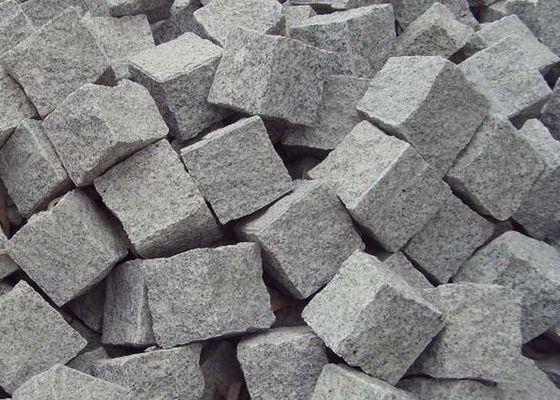 Grey White Granite Paving Slabs Flamed / Sawn For Building / Landscaping