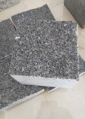 China Natural / Flamed Dark Grey Paving Slabs , G654 Granite Garden Slabs 14 X 14 X 10cm factory