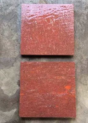 China Red Porphyry Granite Basalt Paver Tiles , Basalt Paving Slabs Stones factory
