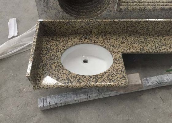 Golden Leaf Stone Granite Countertops Polished / Honed Finishing Various Color